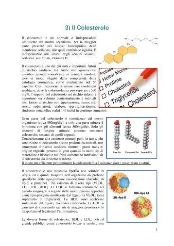 Cardiovascolare: colesterolo - Dieta della salute - Dott. Fabrizio MODA