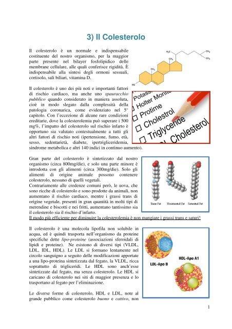 dieta per le persone con ipercolesterolemia