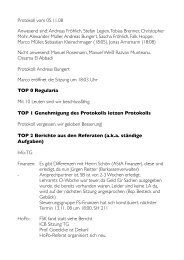 Protokoll vom 05.11.08 Anwesend sind: Andreas Fröhlich ... - FSE
