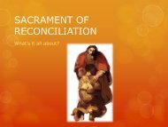 First parents session on reconciliation