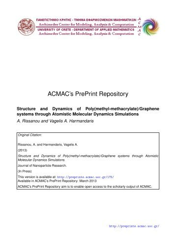 Download (465Kb) - ACMAC's PrePrint Repository