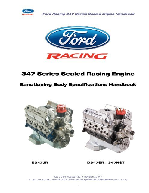 347 Series Sealed Racing Engine Ford Racing Parts