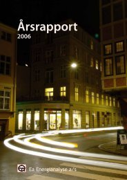 Ea Energianalyses årsrapport 2006