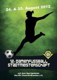 12. Damenfußball-Stadtmeisterschaft 2012 - BV Clusorth-Bramhar