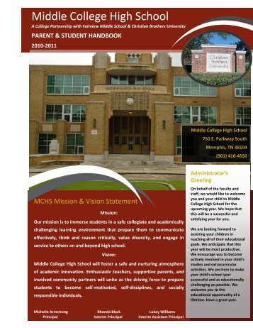 MIDDLE COLLEGE PARENT and STUDENT HANDBOOK