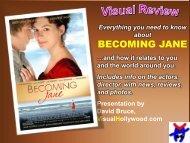 BECOMING JANE - Visual Hollywood