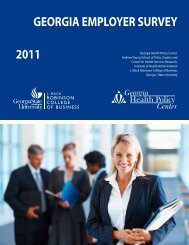 2011 Georgia Employer Survey - Andrew Young School of Policy ...