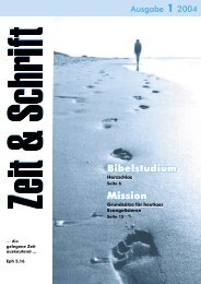 Heft 1/2004 - Zeit & Schrift