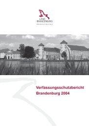 Verfassungsschutzbericht Brandenburg 2004 - Polizei Brandenburg ...