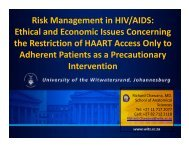 Risk Management in HIV/AIDS: Ethical and Economic Issues ...