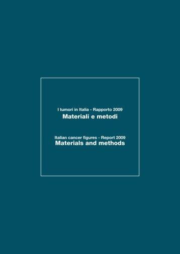 151 Materiali e metodi - Associazione Italiana Registri Tumori