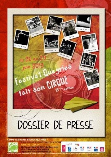 Queyries fait son cirque 2013 – Dossier de presse - Association des ...