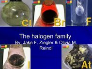 Halogen family - Nichols School