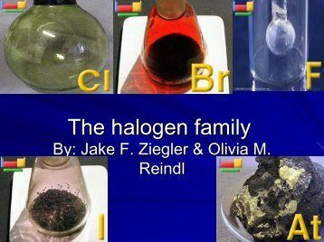 Halogen family - Nichols School