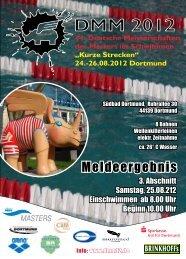 Meldeergebnis Abschnitt 3 - 44. Deutsche Meisterschaft - Kurze ...