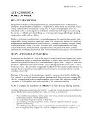 Project Scope of Work - Transportation Agency for Monterey County