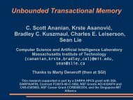 Unbounded Transactional Memory - C. Scott Ananian
