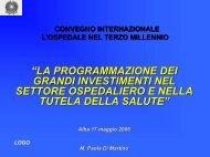 Dr.ssa Paola Di Martino - l'Ospedale nel Terzo millennio