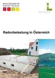 Radonbelastung in Österreich - Bundesministerium für Gesundheit