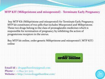 mtp kit misoprostol mifepristone
