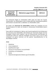 Technische Regeln für Arbeitsstätten Maßnahmen gegen Brände ASR A2.2 neu