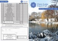 Christmas Cards & Gifts 2010 Order Form - Cherry Lodge Cancer Care