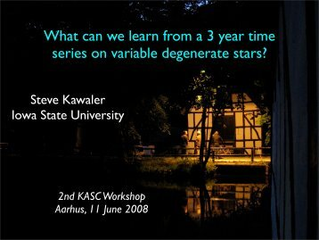 What can we learn from a 3 year time series on variable degenerate ...
