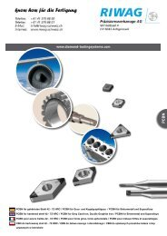 Diamond Tooling Systems - Riwag Präzisionswerkzeuge AG