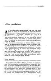 L'Etat prédateur - Politique Africaine