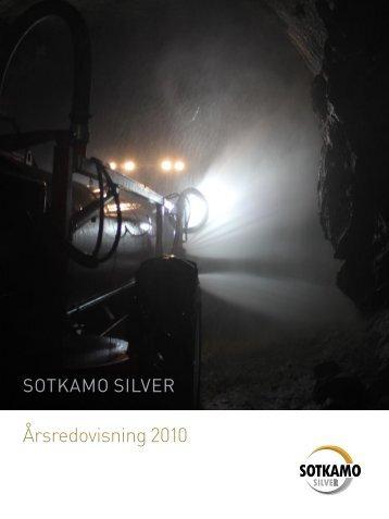 Årsredovisning för Sotkamo Silver AB (publ) 2010