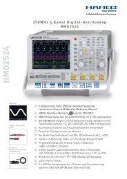 250MHz 4 Kanal Digital-Oszilloskop HMO2524