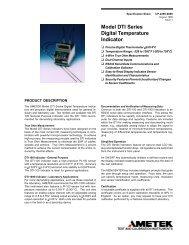 Model DTI Series Digital Temperature Indicator - PK elektronik ...