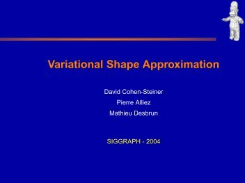Variational Shape Approximation