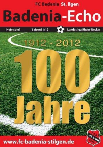 Stadionheft Ausgabe 7 - FC Badenia St. Ilgen