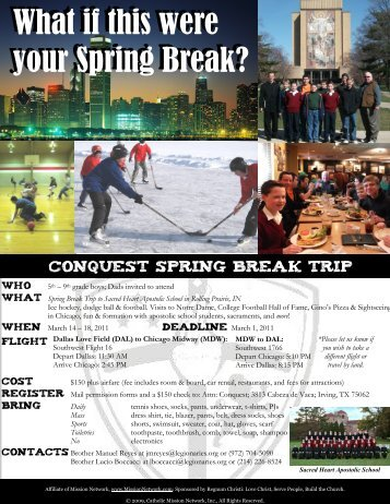 Spring Break Trip - The Highlands School