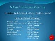 Presiding - National Association for Alternative Certification