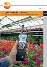 Thermo-hygromètre de précision - Labomat