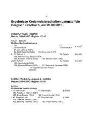 Ergebnisse Kreismeisterschaften Langstaffeln ... - LVN Oberberg