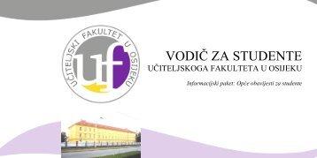 Vodič za studente UFOS - Učiteljski fakultet u Osijeku