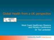 My Presentation to You about CHGN - Healthcare Missions ...