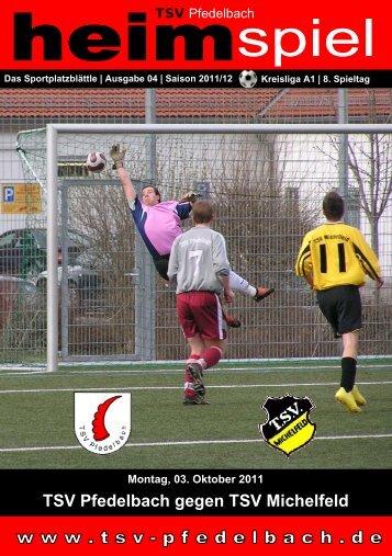 TSV Pfedelbach gegen TSV Michelfeld