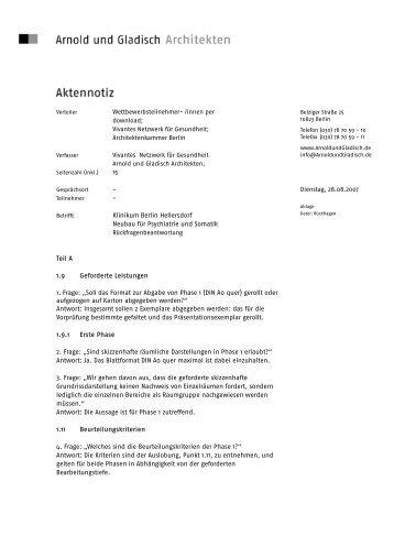 Klinikum Berlin Hellersdorf Neubau für Psychiatrie und Somatik Teil ...