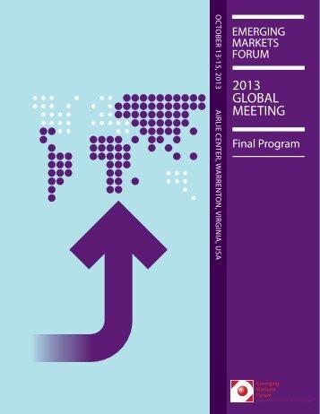 Final Program - Emerging Markets Forum