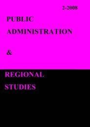 public admi istratio & regio al studies - Facultatea de Drept ...