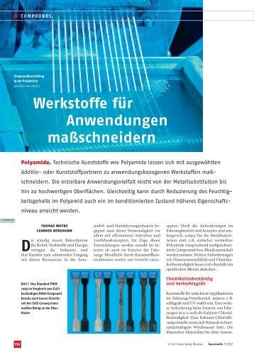 Werkstoffe für Anwendungen maßschneidern - AKRO-PLASTIC GmbH