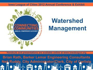 Watershed Management - Iowa League of Cities