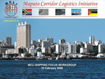MCLI SHIPPING FOCUS WORKGROUP 23 February 2006