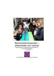 Barnkonsekvensanalys – erfarenheter och visioner - FOT