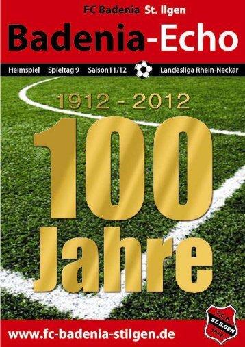 Stadionheft Ausgabe 4 - FC Badenia St. Ilgen
