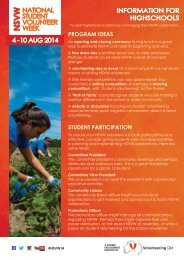 Download our information sheet - Volunteering Qld